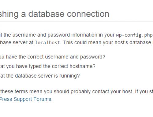 Sửa lỗi Error Establishing a Database Connection trong WordPress