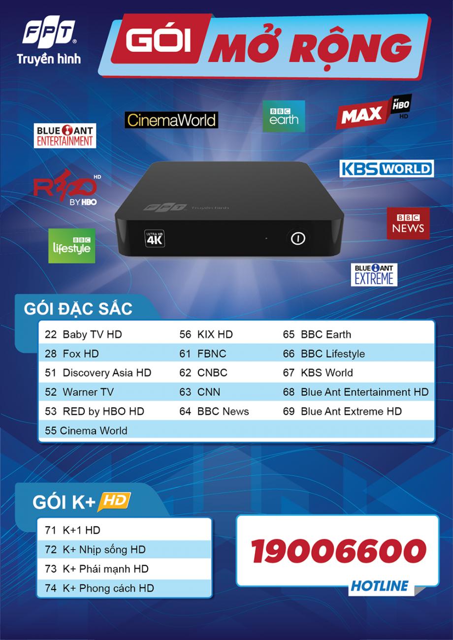 Danh sách kênh mở rộng truyền hình FPT