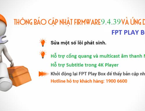 Hướng dẫn cập nhật phần mềm FPT Play Box+ 2019