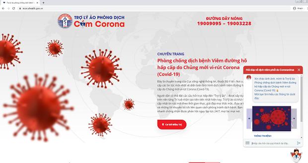 Trợ lý ảo phòng dịch Covid-19 do FPT phối hợp cùng Bộ Y tế thực hiện.