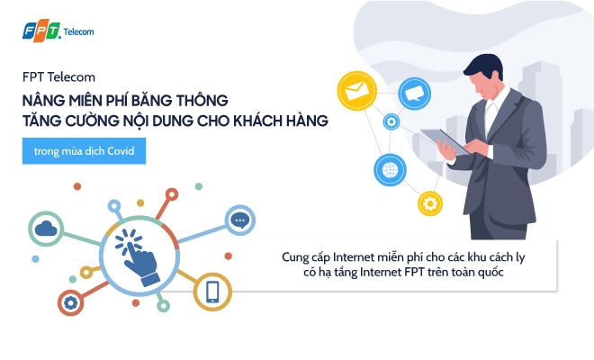 FPT Telecom chung tay cùng Chính phủ đẩy lùi dịch Covid-19.