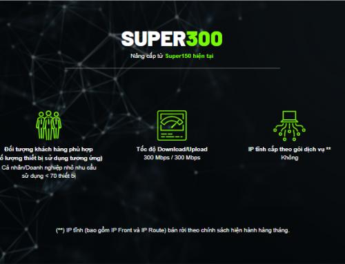 Gói cước internet cáp quang Super300