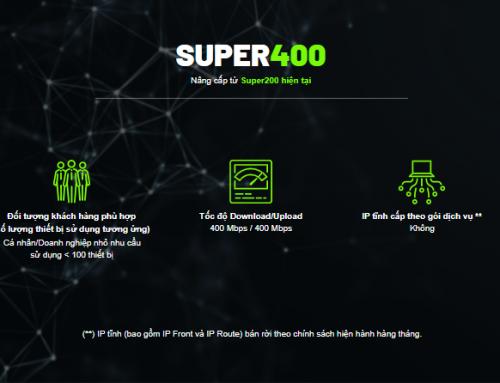 Gói cước internet cáp quang Super400